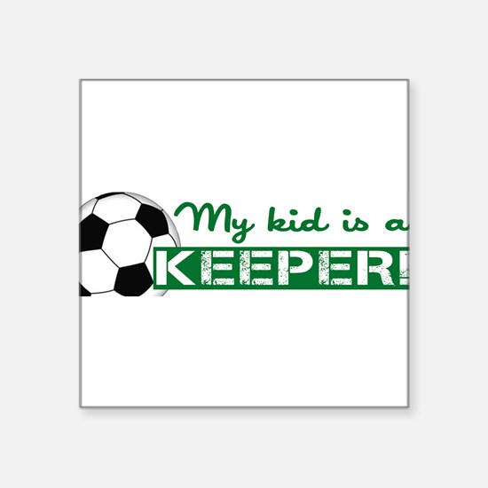 "Proud Goalkeeper Parent Square Sticker 3"" x 3"""