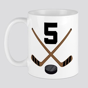 Hockey Player Number 5 Mug