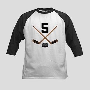 Hockey Player Number 5 Kids Baseball Jersey