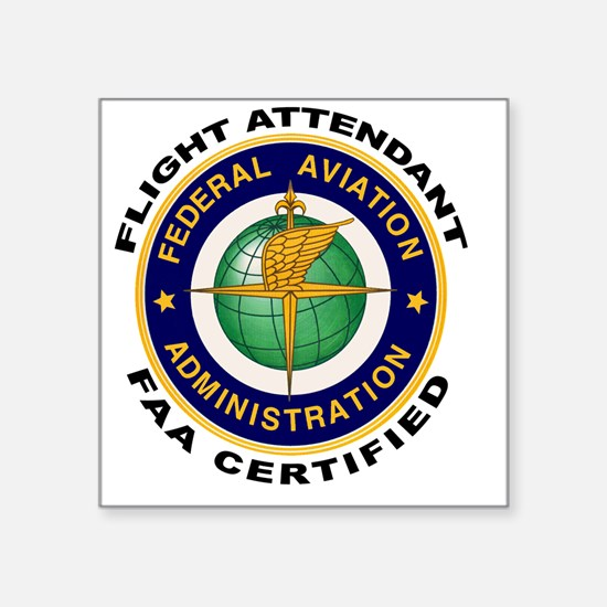 FAA Certified Flight Attendant Sticker