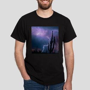 Lightning storm over Tucson, Arizona - Dark T-Shir