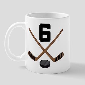 Hockey Player Number 6 Mug