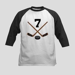 Hockey Player Number 7 Kids Baseball Jersey
