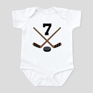 Hockey Player Number 7 Infant Bodysuit