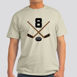 Hockey Player Number 8 Light T-Shirt