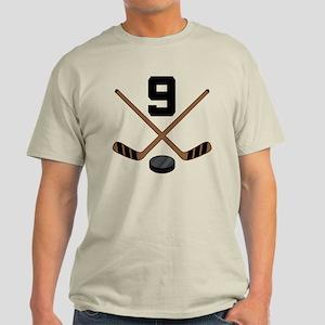 Hockey Player Number 9 Light T-Shirt