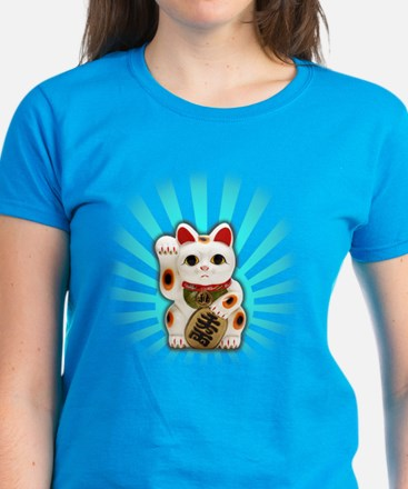 Lucky Cat (Maneki-neko) Women's Dark T-Shirt