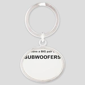 big subwoofers Oval Keychain