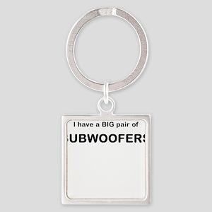 big subwoofers Square Keychain