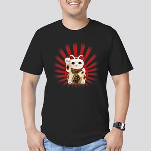 Lucky Cat (Maneki-neko) Men's Fitted T-Shirt (dark
