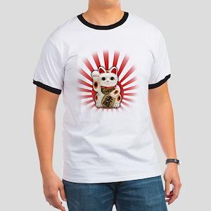 Lucky Cat (Maneki-neko) Ringer T