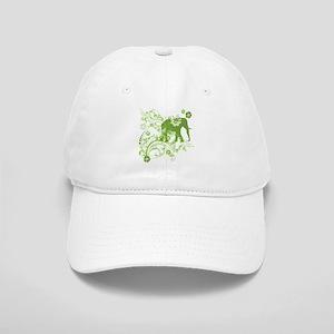 Elephant Swirls Green Cap