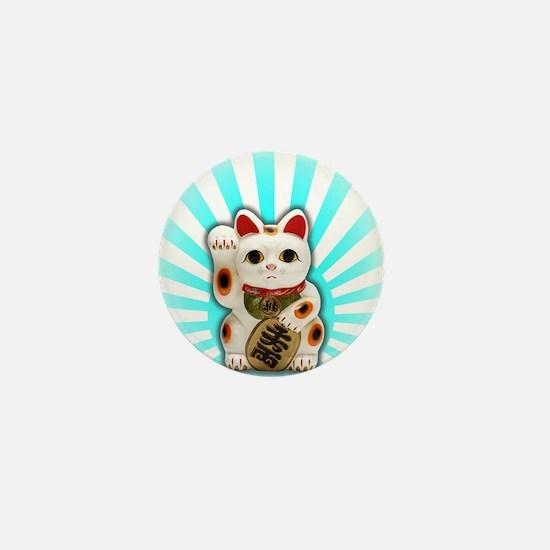 Lucky Cat (Maneki-neko) Mini Button