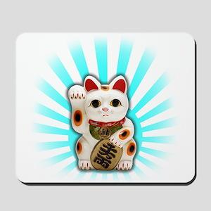 Lucky Cat (Maneki-neko) Mousepad