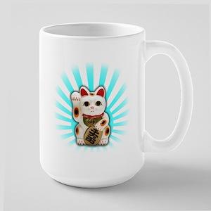 Lucky Cat (Maneki-neko) Large Mug