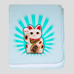Lucky Cat (Maneki-neko) baby blanket