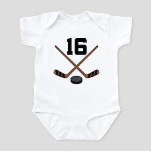 Hockey Player Number 16 Infant Bodysuit