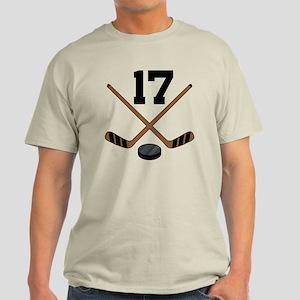 Hockey Player Number 17 Light T-Shirt