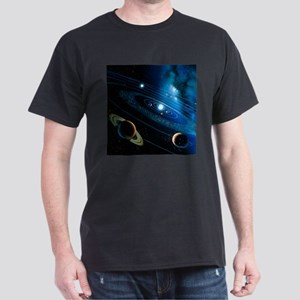 Artwork of the solar system - Dark T-Shirt