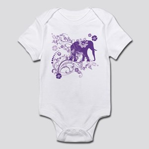 Elephant Swirls Purple Infant Bodysuit