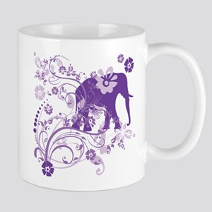 Elephant Swirls Purple Mug