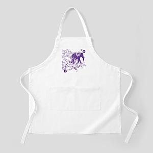 Elephant Swirls Purple Apron
