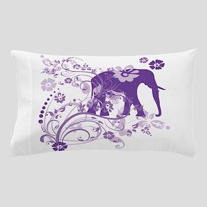 Elephant Swirls Purple Pillow Case