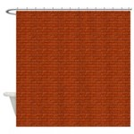 Brick Wall Decor Shower Curtain
