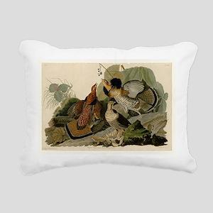 Ruffled Grouse Rectangular Canvas Pillow