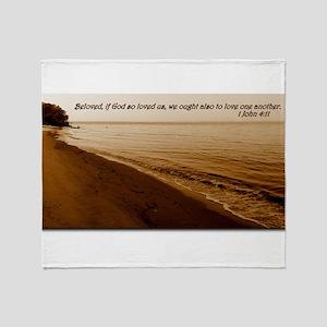 1 John 4:11 Throw Blanket