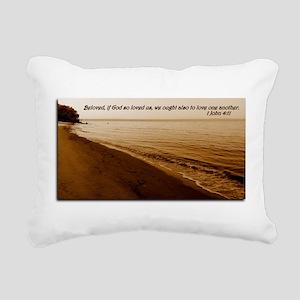 1 John 4:11 Rectangular Canvas Pillow