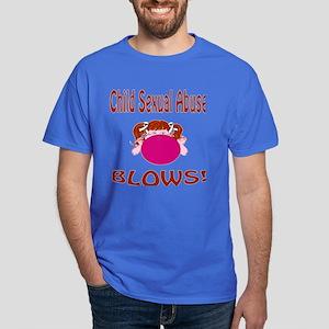 Child Sexual Abuse Blows! Dark T-Shirt