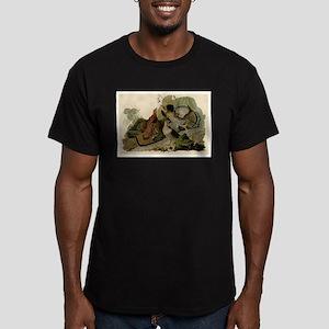 Ruffled Grouse Men's Fitted T-Shirt (dark)