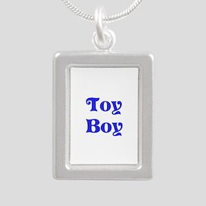 Toy Boy Silver Portrait Necklace