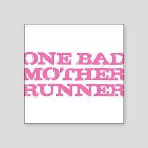 One Bad Mother Runner Pink Sticker
