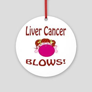 Liver Cancer Blows! Ornament (Round)