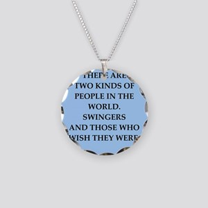 SWINGERS Necklace Circle Charm