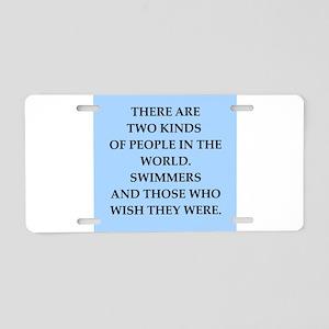 swim Aluminum License Plate