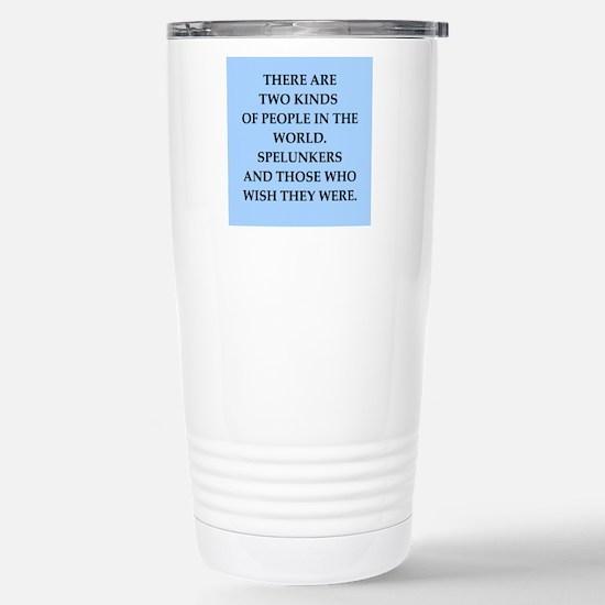 spelunker Stainless Steel Travel Mug