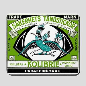 Antique Holland Hummingbird Matchbox Label Mousepa