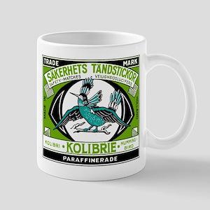 Antique Holland Hummingbird Matchbox Label Mug