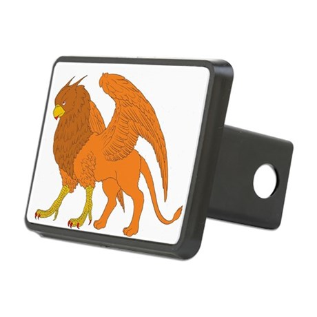 The Lion Eagle Rectangular Hitch Cover