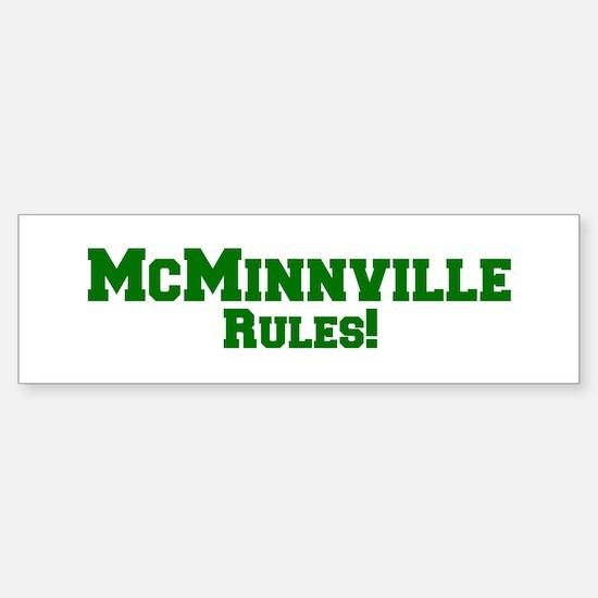 McMinnville Rules! Bumper Bumper Bumper Sticker