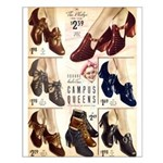 1930s Campus Queen Shoes Small Poster