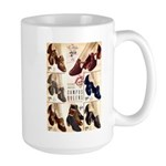 1930s Campus Queen Shoes Large Mug