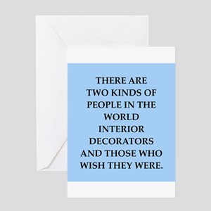 interior decorators Greeting Card