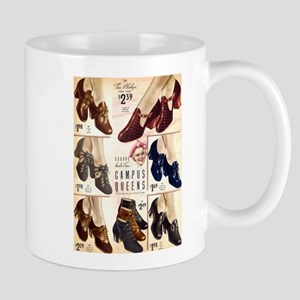 1930s Campus Queen Shoes Mug