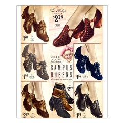 1930s Campus Queen Shoes Posters