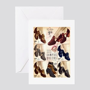 1930s Campus Queen Shoes Greeting Card
