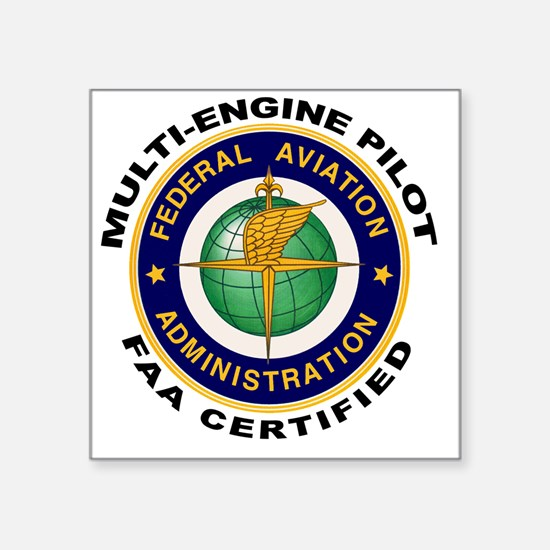 FAA Certified Multi-Engine Pilot Sticker